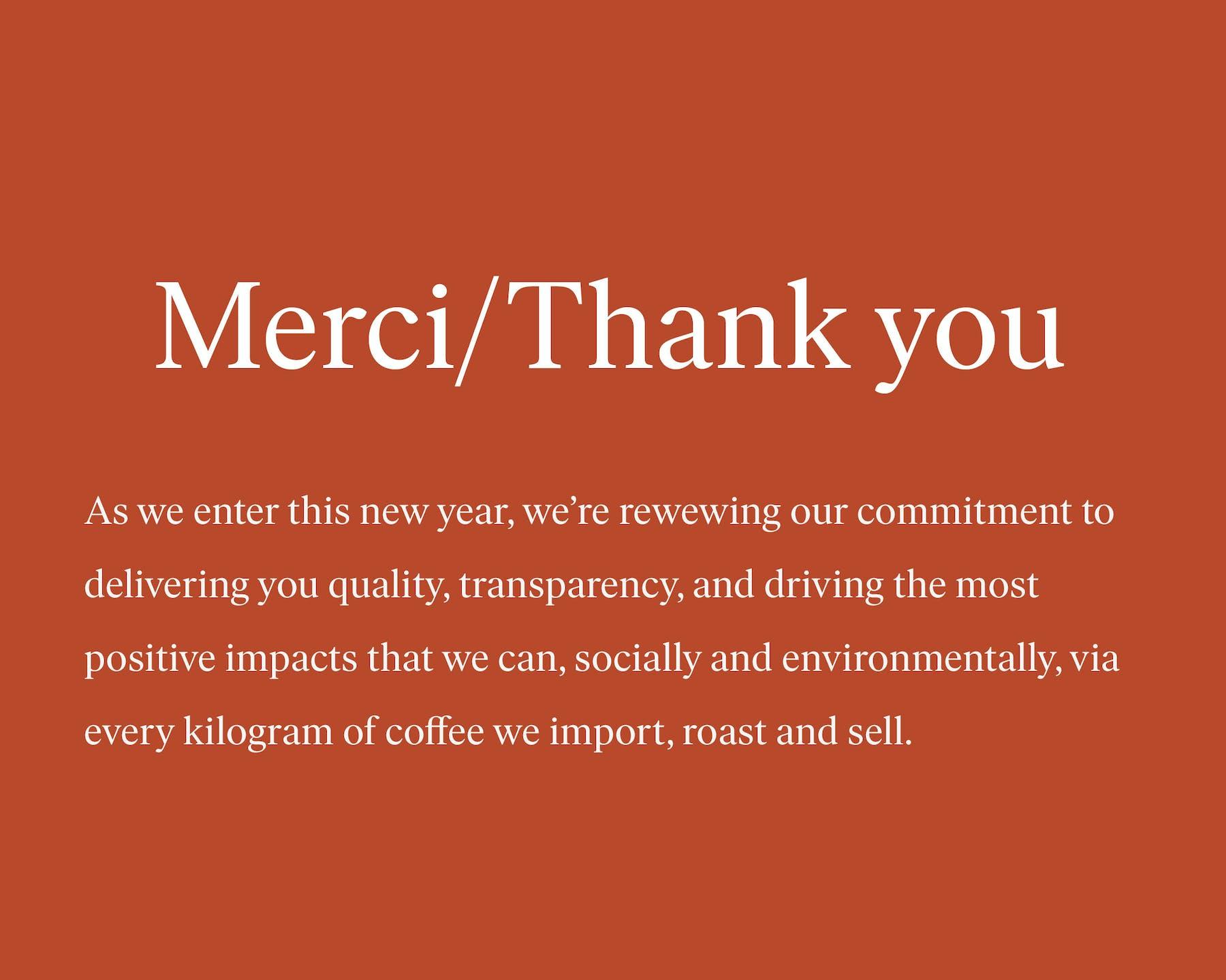 Merci/Thanks 2020 Blog Post