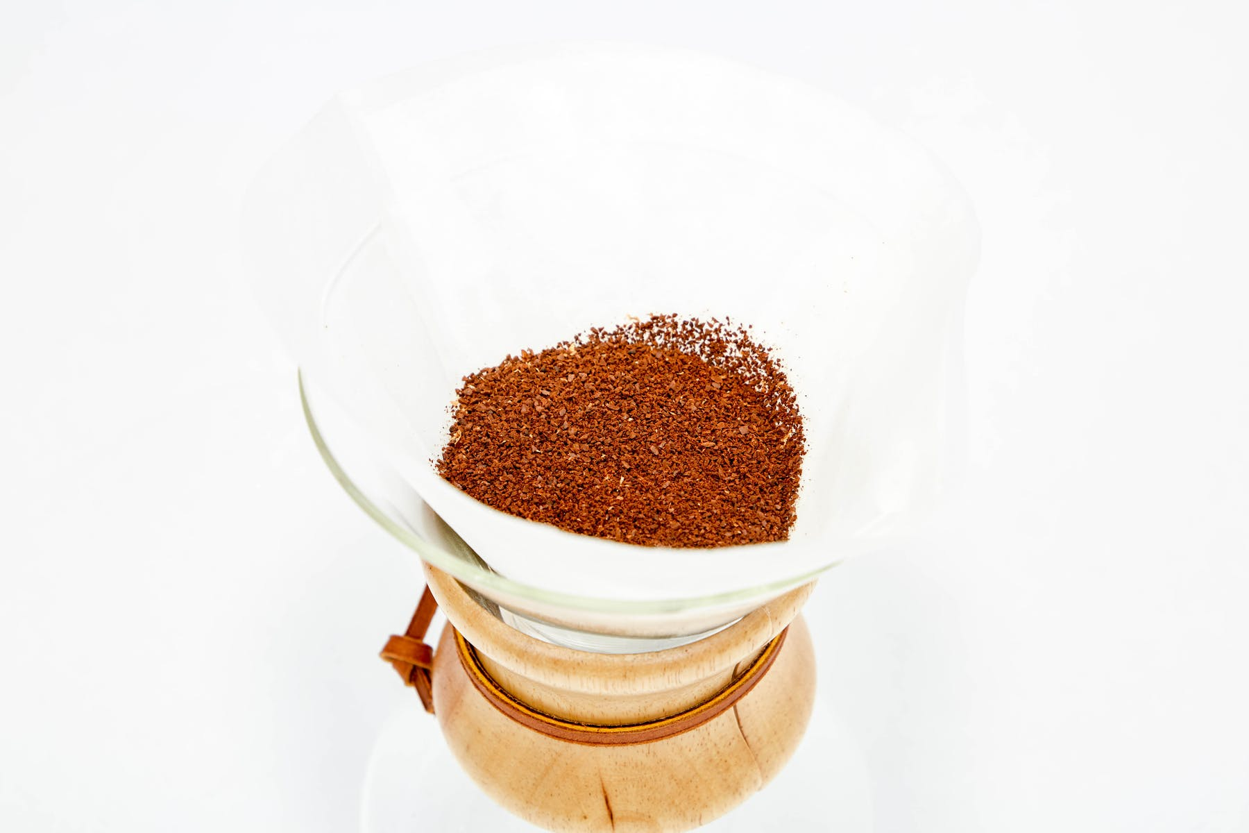 Put the ground coffee in the filter
